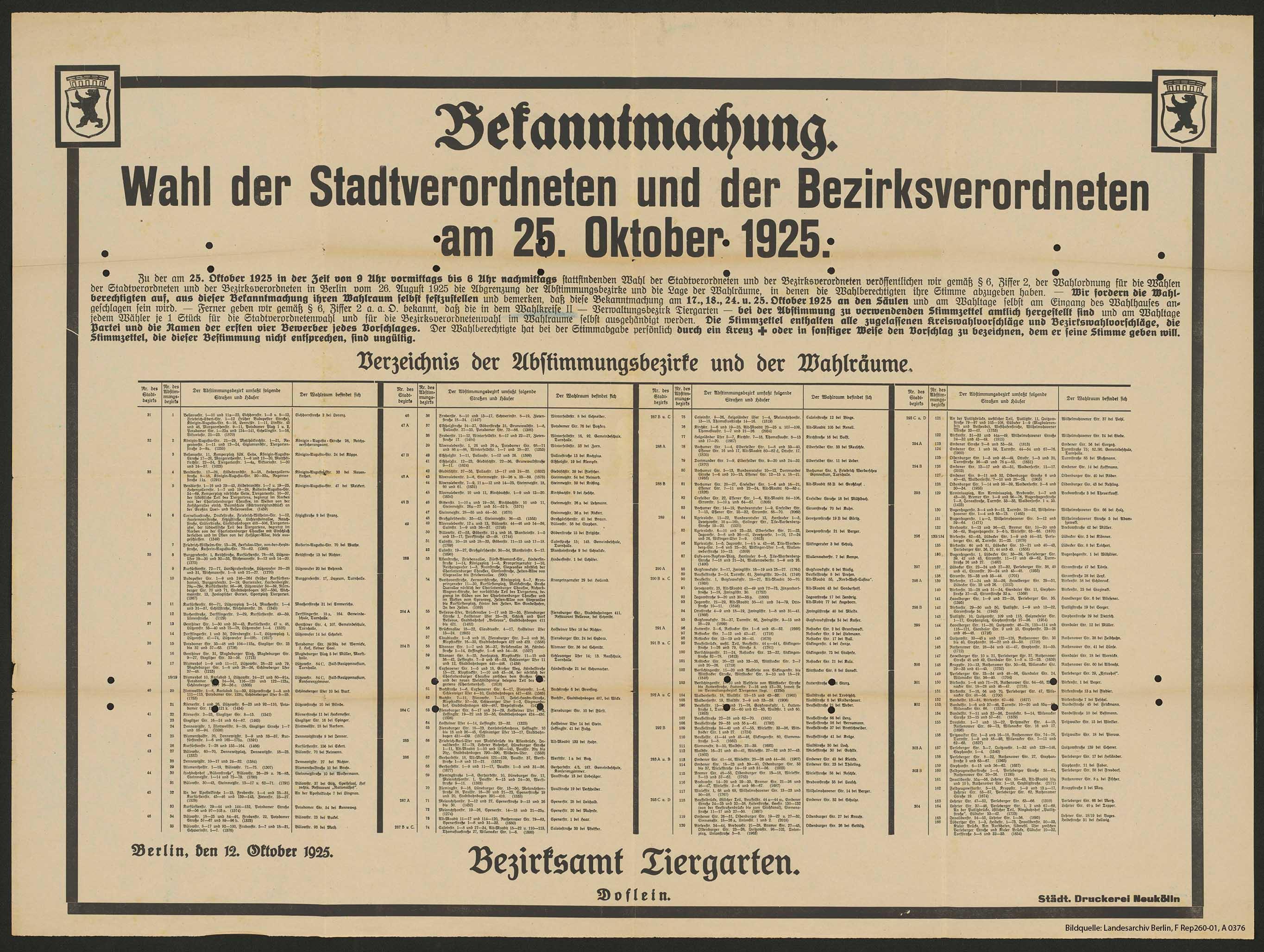 die landeswahlleiterin für berlin - berliner wahlen 2016, Einladung